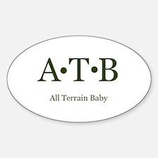 ATB-All Terrain Baby Oval Decal