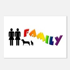 Lesbian Family Pride, Pets Postcards (Package of 8