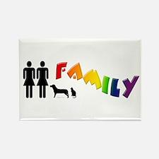 Lesbian Family Pride, Pets Rectangle Magnet