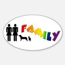Lesbian Family Pride, Pets Oval Decal