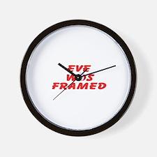 Eve Was Framed Wall Clock