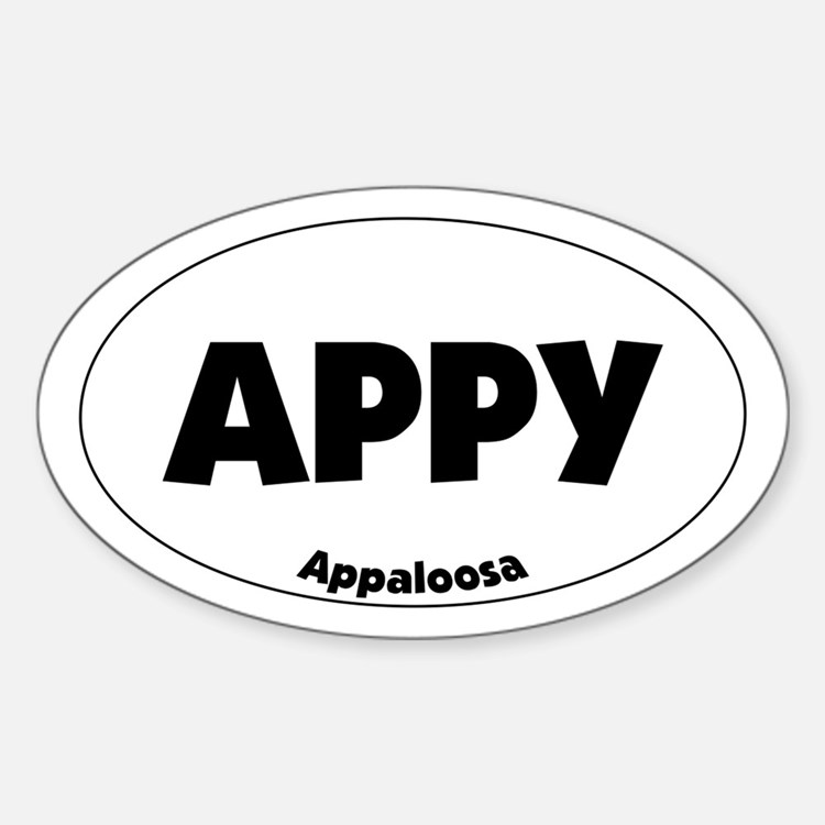 appaloosa - Oval Decal