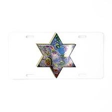 Jewish Star Aluminum License Plate