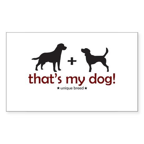 Lab/Beagle Rectangle Sticker