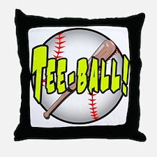 TEE-BALL! Throw Pillow