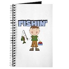 Stick Figure Boy Fishin' Journal