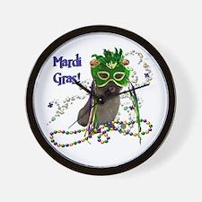 Mardi Gras Cairn Terrier Wall Clock