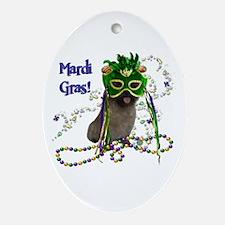 Mardi Gras Cairn Terrier Ornament (Oval)