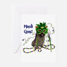 Mardi Gras Cairn Terrier Greeting Cards (Pk of 20)