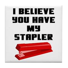 Stapler Tile Coaster