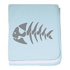Pirate Fish baby blanket
