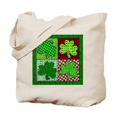 Clover Quilt Tote Bag