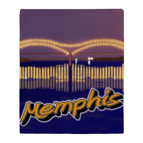Memphis Bridge Scene Throw Blanket
