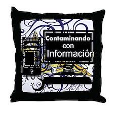 Contaminacion Throw Pillow