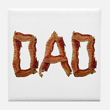 Bacon Dad Tile Coaster