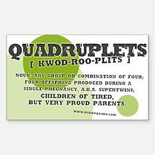 """Quadruplets Definition"" Rectangle Decal"