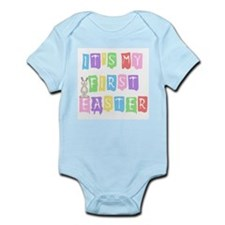 Cool Text 1st Easter (girl) Infant Creeper