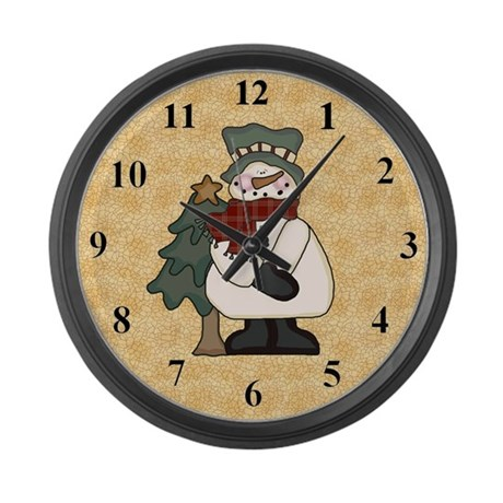 Snowmen Large Wall Clock