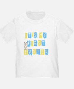 Cool Text 1st Easter (boy) T