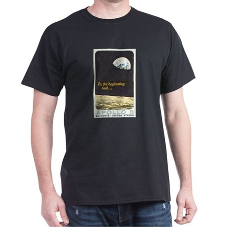Apollo 8 In The Begining Black T-Shirt