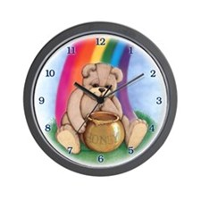 Teddy's Gold Wall Clock