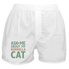 Burmilla Cat Boxer Shorts