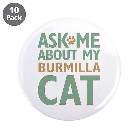 "Burmilla Cat 3.5"" Button (10 pack)"