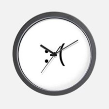 Frowning Smiley Wall Clock