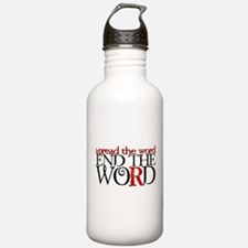 End the Word Water Bottle