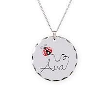 Ladybug Ava Necklace Circle Charm