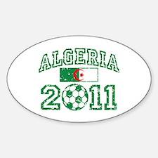 Algeria Soccer 2011 Sticker (Oval)