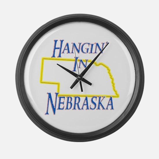 Hangin' in NE Large Wall Clock