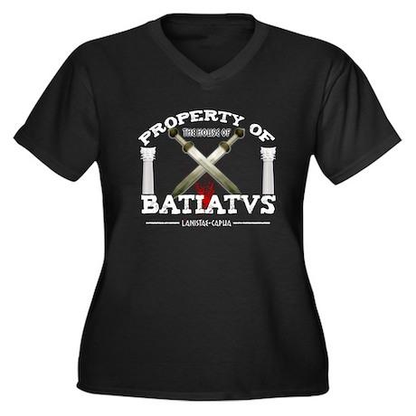 House of Batiatus Women's Plus Size V-Neck Dark T-
