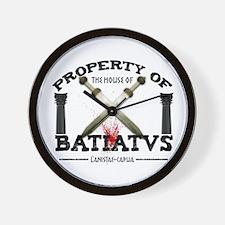 House of Batiatus Wall Clock