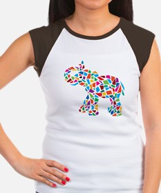 Abstract Elephant Women's Cap Sleeve T-Shirt