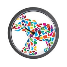 Abstract Elephant Wall Clock
