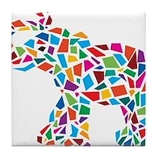Abstract Elephant Tile Coaster