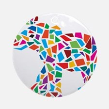 Abstract Elephant Ornament (Round)