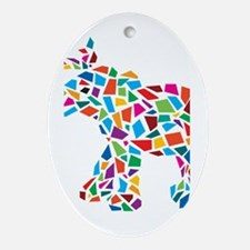 Abstract Elephant Ornament (Oval)
