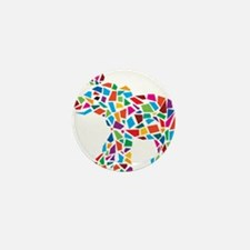Abstract Elephant Mini Button (10 pack)