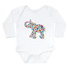 Abstract Elephant Long Sleeve Infant Bodysuit