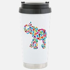 Abstract Elephant Stainless Steel Travel Mug