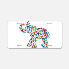 Abstract Elephant Aluminum License Plate