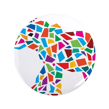 "Abstract Elephant 3.5"" Button"