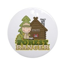 Male Forest Ranger Ornament (Round)