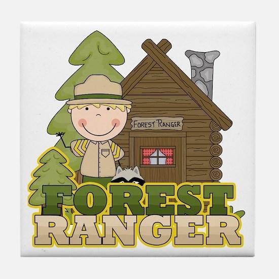 Male Forest Ranger Tile Coaster
