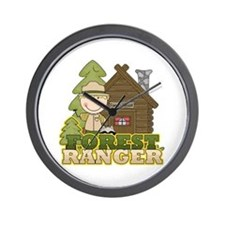 Male Forest Ranger Wall Clock
