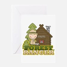 Male Forest Ranger Greeting Card