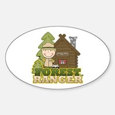 Male Forest Ranger Sticker (Oval)