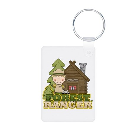 Male Forest Ranger Aluminum Photo Keychain